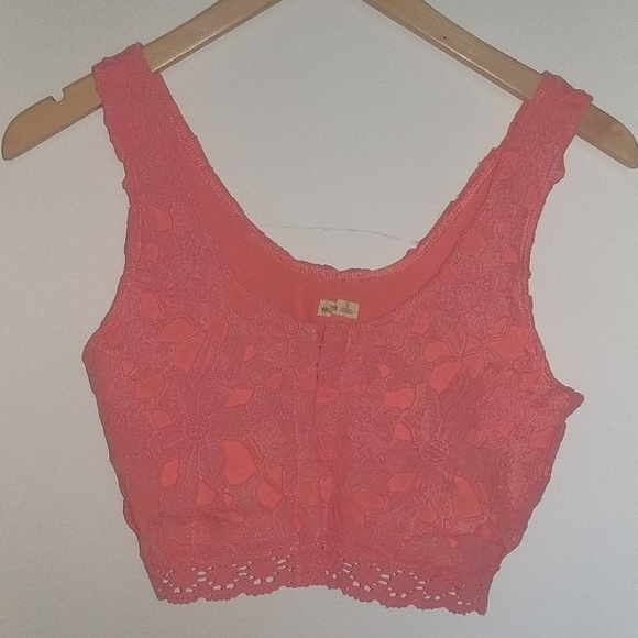Hollister Coral Bralette/Cropped Tank